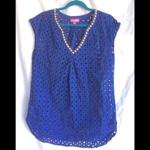 Lilly Pulitzer Navy Blue Tunic Top 🌿 A6